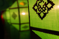Thailand traditional decorating green paper lantern Stock Photo