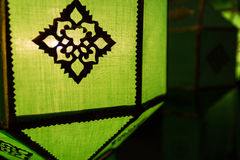 Thailand traditional decorating green paper lantern Stock Images