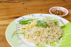 Thailand traditional food, fried rice with chilli Royalty Free Stock Photos