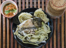 Thailand traditional food. Local traditional food Thailand Northeast Stock Photos