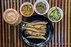 Thailand traditional food. Local traditional food Thailand Northeast Stock Image