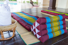 Thailand traditional mattress for spa massage Royalty Free Stock Photos
