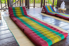 Thailand traditional mattress for spa massage Stock Images