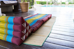 Thailand traditional mattress for spa massage Royalty Free Stock Photo