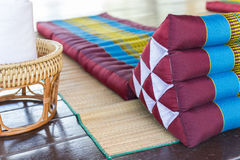 Thailand traditional mattress for spa massage Royalty Free Stock Images