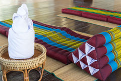 Thailand traditional mattress for spa massage Stock Photo