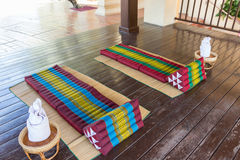 Thailand traditional mattress for spa massage Stock Image