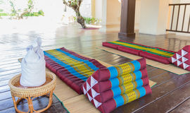 Thailand traditional mattress for spa massage Stock Photos