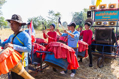 Thailand traditional musician band playing folk music Royalty Free Stock Photos