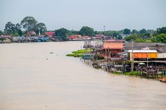Thailand traditional riverside village Royalty Free Stock Images