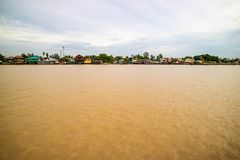 Thailand traditional riverside village Stock Photography
