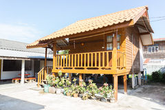 Thailand traditional vintage wooden house Stock Photo
