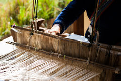 Thailand traditional weaving Stock Image