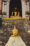 Thailand traditionella Buddhaskulpturer, Chiang Mai Arkivbild