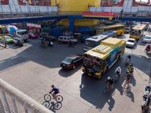 Thailand trafik Arkivfoto