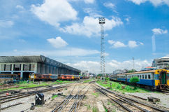 Thailand train area Royalty Free Stock Images