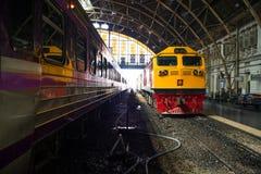 Thailand Train. Diesel Train in Thailand at Bangkok Station Royalty Free Stock Photos