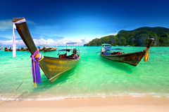 Thailand travel. Background concept by sea Royalty Free Stock Photos
