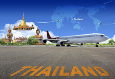 Thailand travel. Concept made with photoshop stock images