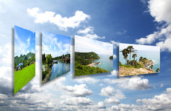Thailand travel background concept Royalty Free Stock Images