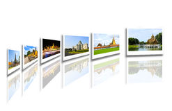 Thailand travel background concept royalty free illustration