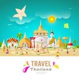 Thailand travel building and landmark Royalty Free Stock Photos