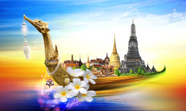 Thailand travel concept. For background Stock Image