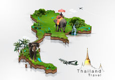 Thailand travel concept. For background Stock Illustration