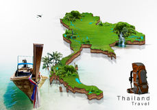 Thailand travel concept royalty free illustration