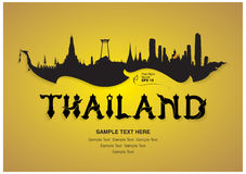 Thailand travel design Royalty Free Stock Photography