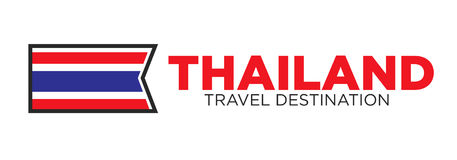 Thailand travel destination sign Royalty Free Stock Photos