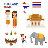 Thailand travel illustration Stock Images