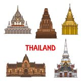 Thailand Travel Landmarks And Temples Stock Photos