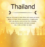 Thailand Travel Landmarks Gold Vector and Illustration Royalty Free Stock Photos