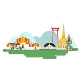 Thailand Travel Landmarks. Vector And Illustration Royalty Free Stock Photo