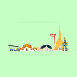 Thailand Travel Landmarks. Vector And Illustration Royalty Free Stock Photography
