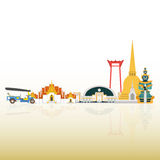 Thailand Travel Landmarks. Vector and Illustration Stock Images