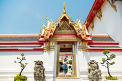 Thailand travel at Wat Pho temple royalty free stock images