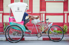 Thailand tricycle taxi. Stock Photo