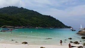 Thailand Tropical Beach Racha Island. Tropical Beach Racha Island stock video footage