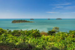 Thailand. Tropical Islands Ko Chang. The view from the observation deck Kai Bay Royalty Free Stock Photo
