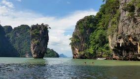 Thailand - Tropical Paradise of James Bond Island Phang-Nga Bay stock video