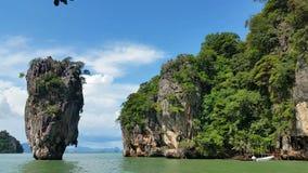 Thailand - Tropical Paradise of James Bond Island Phang-Nga Bay stock footage