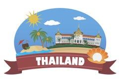 thailand Turism och lopp royaltyfri illustrationer