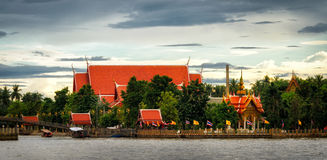 Thailand, typical buddhist temple in Maeklong Royalty Free Stock Photos