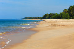 Thailand untouched deserted beach Royalty Free Stock Photo