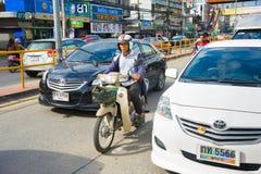 Thailand vägtrafik Chiang Mai Arkivfoton