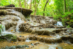 thailand vattenfall royaltyfria bilder