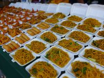 Thailand veckomarknad Arkivbild