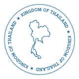Vector Thailand Map Outline With Retro Sunburst. Stock Vector ...